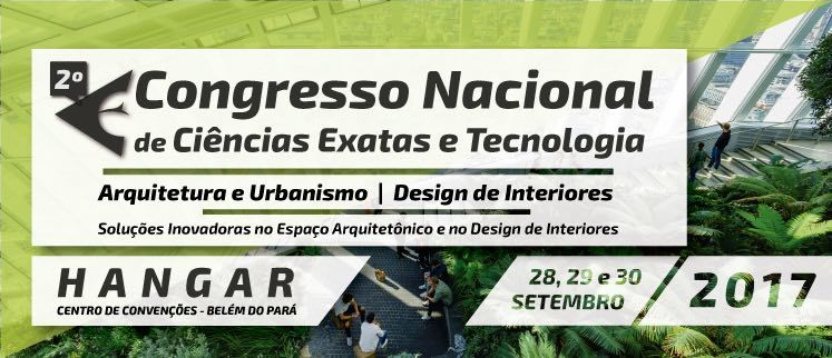 2º Congresso Nacional de Arquitetura e Urbanismo | Design de Interiores - Belém/PA