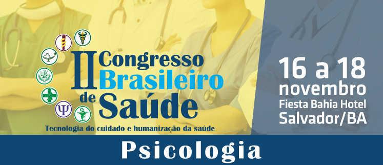 I Congresso Brasileiro de Psicologia - Salvador/BA.