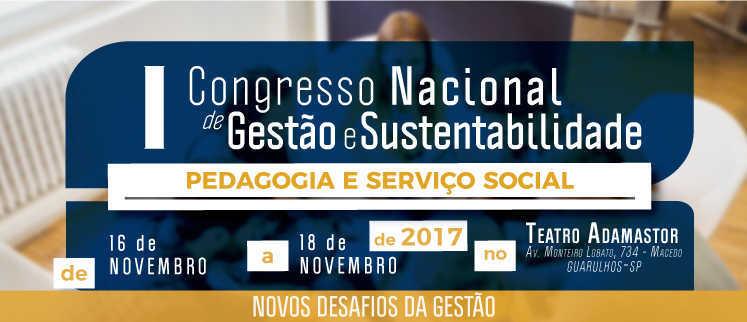 I Congresso Nacional de Pedagogia e Serviço Social - Guarulhos/SP.
