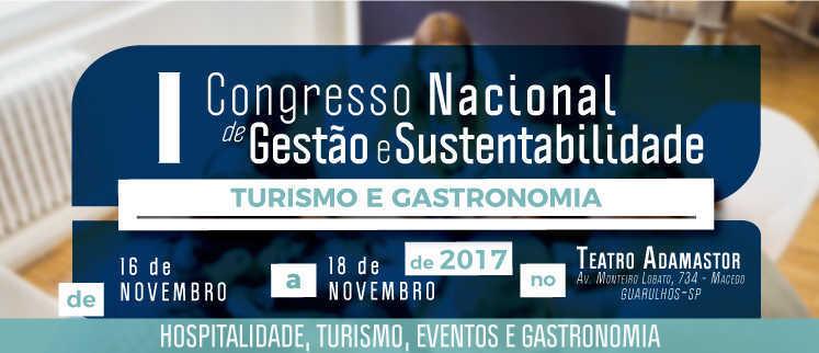 I Congresso Nacional de Turismo e Gastronomia - Guarulhos/SP.