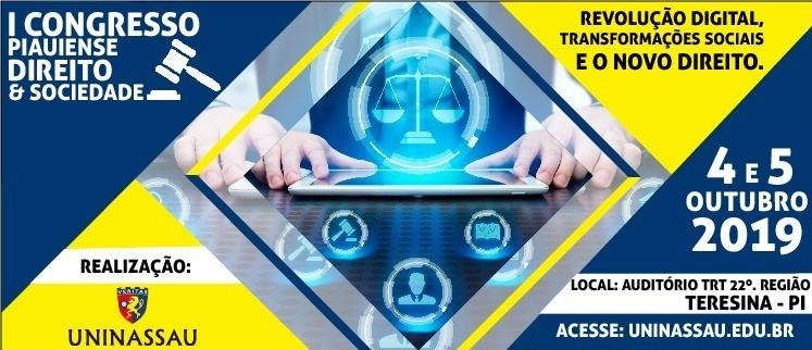 I Congresso Piauiense Direito e Sociedade : Revolução Digital