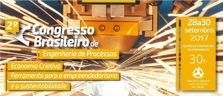 2º Congresso Brasileiro de Engenharia de Processos - Recife/PE